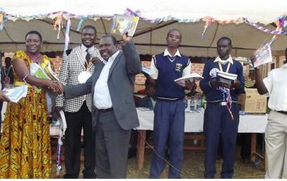 MKU Donates books to Nabingenge Friends Secondary School