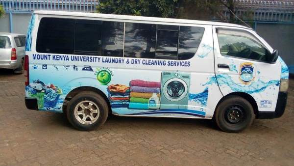 MKU Laundry and Dry Cleaner Van