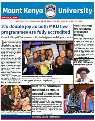MKU Newsletter 2018 Nov. Edition