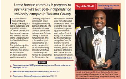 MKU Newsletter August-  Dec. 2015