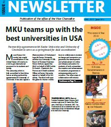 MKU Newsletter Dec. 2013- June, 2014