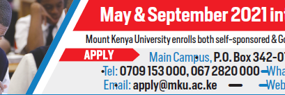 Competitive programs you can pursue at Mount Kenya University with a C (Plain), C (minus) and a D + (plus)